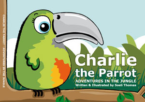 Charlie the Parrot – Adventures in the Jungle – soeli co uk